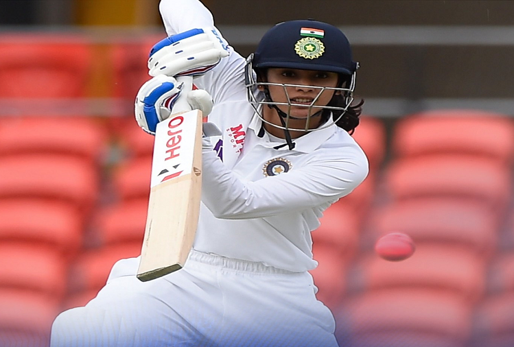 Indian women's team's star opener Smriti Mandhana became the first Indian woman cricketer to score a century in a pink ball test match, unbeaten on 126 against Australia, Team India scored 191 runs for 1 wicket in the first innings.