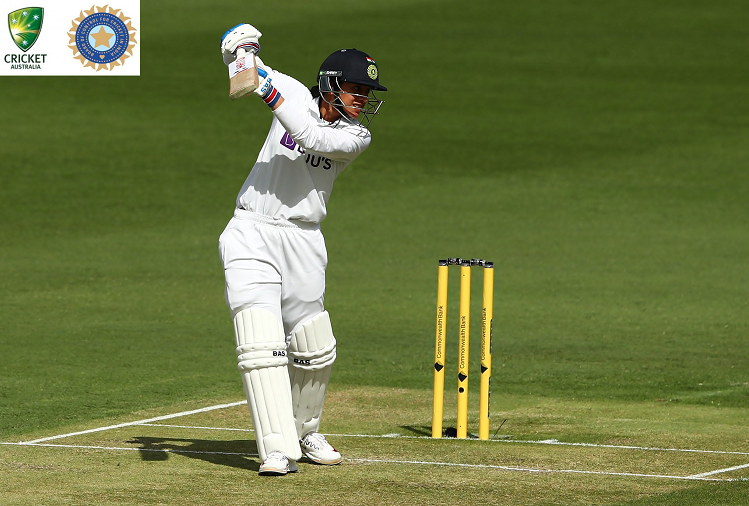 Pink Ball Test : Team India's opener Smriti Mandhana returned to the pavilion after scoring 127 runs, India scored 205 for two wickets in the first innings, Mithali Raj and Poonam Raut were present at the crease.