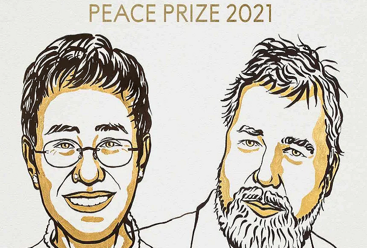 Nobel Peace Prize 2021  : Two journalists raised their voice against the suppression of power, selected for this year's Nobel Peace Prize, will these two journalists from the Philippines and Russia get the Nobel Peace Prize 2021?