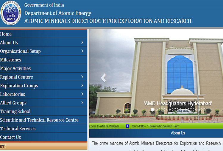 Directorate of Atomic Minerals Exploration and Research (AMD) has released government jobs for various posts, candidates should apply before the date?