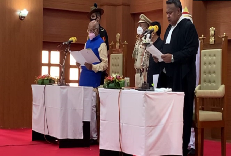 Tripura High Court  : Former Chief Justice of Rajasthan Indrajit Mahanti takes oath as Chief Justice of Tripura High Court, becomes 13th CJ of Tripura