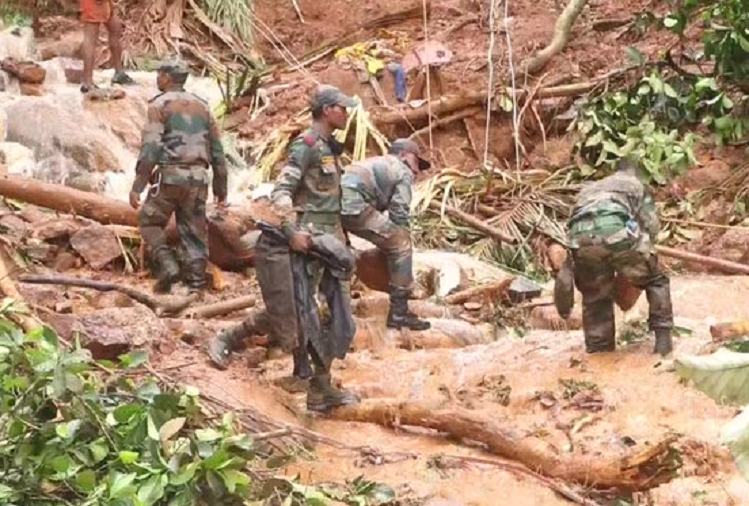Heavy rains and landslides worsened the situation in Kerala, 5 more bodies recovered today after landslide in Kottayam district, 11 people died in last 2 days in Kerala