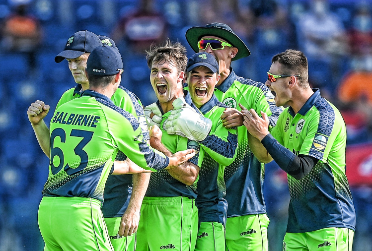NL v/s IRE :  Ireland beat Netherlands by 7 wickets in Super-12 qualifying match of ICT Cricket World Cup, Curtis Campher achieved the first hat-trick of the tournament by taking 4 wickets in 4 balls?