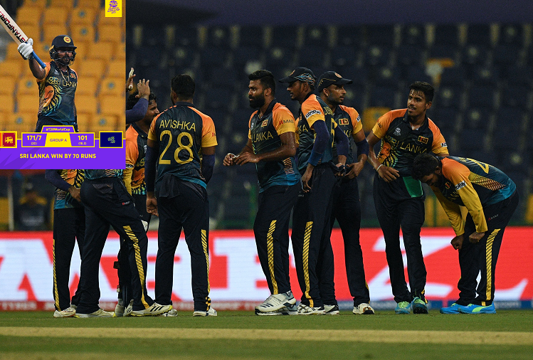 Twenty-20 World Cup 2021  : In the ICC Twenty20 World Cup Super-12 qualifying round, Sri Lanka entered the Super-12 after defeating Ireland by 70 runs in the second match, Scotland also reached the last-12