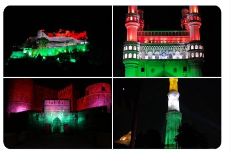 100 Crore Vaccination :Corona vaccine vaccinated 100 crore people in the country, 100 historical monuments decorated in tricolor, see photos of these buildings full of patriotism here?